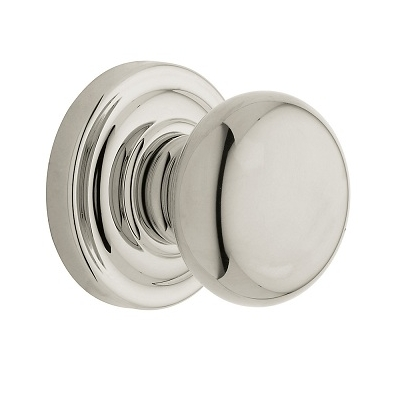 Baldwin Estate Pre-Configured 5015 Classic Door Knob Lifetime Polished Nickel