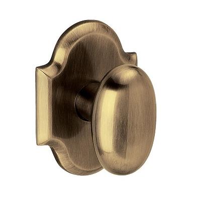 Baldwin Estate 5024 Oval Door 5024.MR.R030.PS Passage 050 Satin Brass and Black