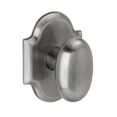 Baldwin Estate 5024 Oval Door Knob 5024.MR.R030.PS Passage 151 Antique Nickel