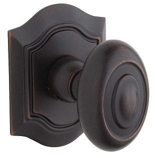 Baldwin Estate Bethpage Dummy Door Knob Set 5077.FD 112 Venetian Bronze
