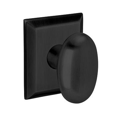 Baldwin Oval Knob Door Knob Set 5024.MR.R033.PS
