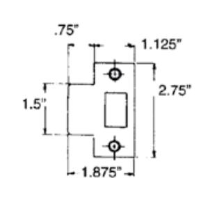 Baldwin Estate 5510.TSTR Standard T-Stike with Dust Box