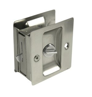 Weslock 577 Privacy Pocket Door Lock Satin Nickel (U15)