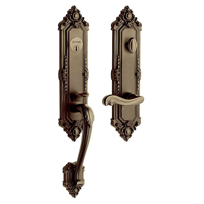 Baldwin Estate 6426 Kensington Handleset Satin Brass & Black (050)