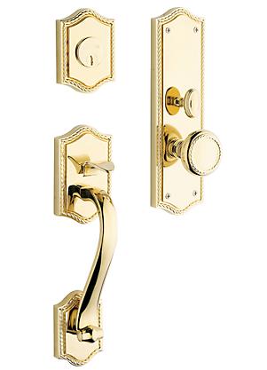 Baldwin Estate 6520 Bristol Mortise Handleset Polished Brass (030)
