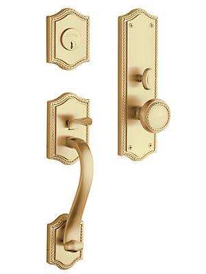 Baldwin Estate 6520 Bristol Mortise Handleset Vintage Brass (033)