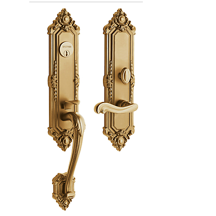 Baldwin Estate 6526 Kensington Mortise Handleset Vintage Brass (033)