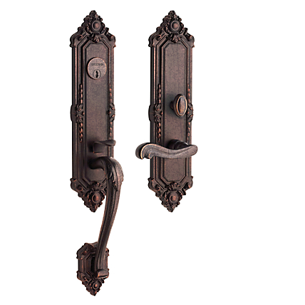 Baldwin Estate 6526 Kensington Mortise Handleset Distressed Venetian Bronze