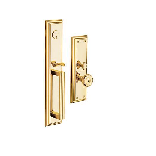 Baldwin Estate 6542 Tremont Mortise Handleset in Lifetime Polished Brass (003)