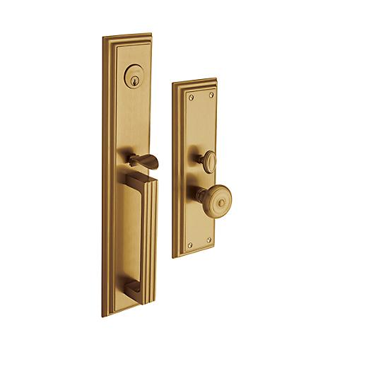 Baldwin Estate 6542 Tremont Mortise Handleset in Vintage Brass (033)