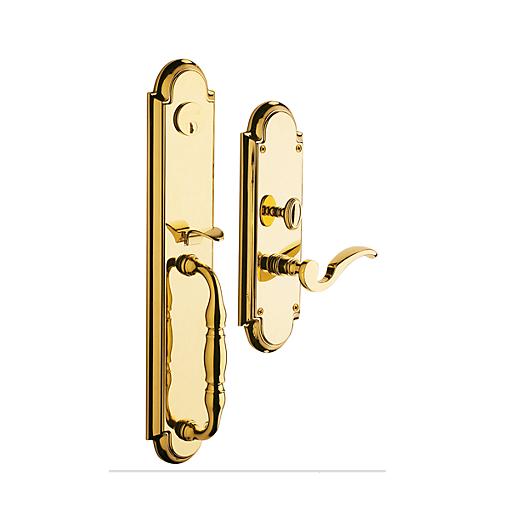 Baldwin Estate 6544 Hamilton Mortise Handleset in Lifetime Polished Brass (003)