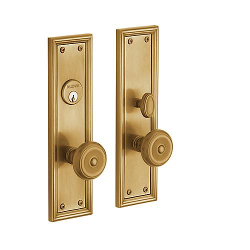 Baldwin Estate 6547 Nashville Mortise Entrance Set in Vintage Brass