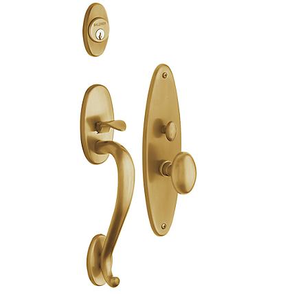 Baldwin Estate 6560 Lexington Mortise Handleset Vintage Brass (033)