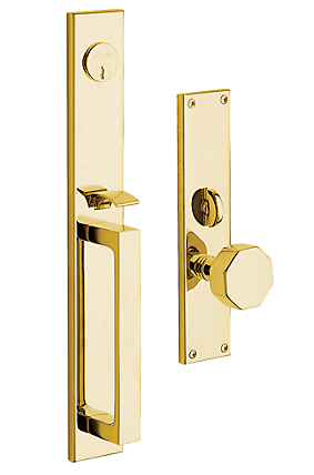 Baldwin Estate 6570 Atlanta Mortise Handleset Polished Brass (030)