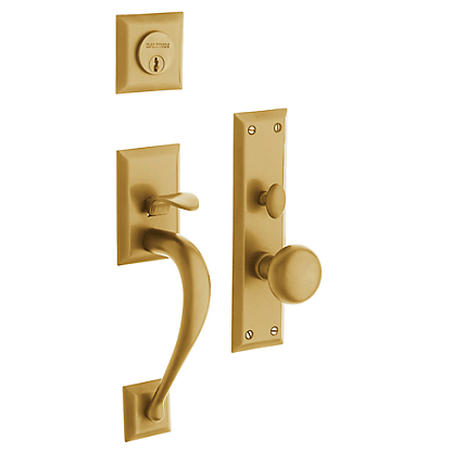 Baldwin Estate 6571 Concord Mortise Handleset Vintage Brass (033)