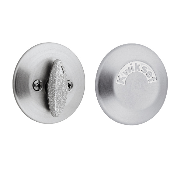 Kwikset 667 One Sided Deadbolt With Exterior Plate Low