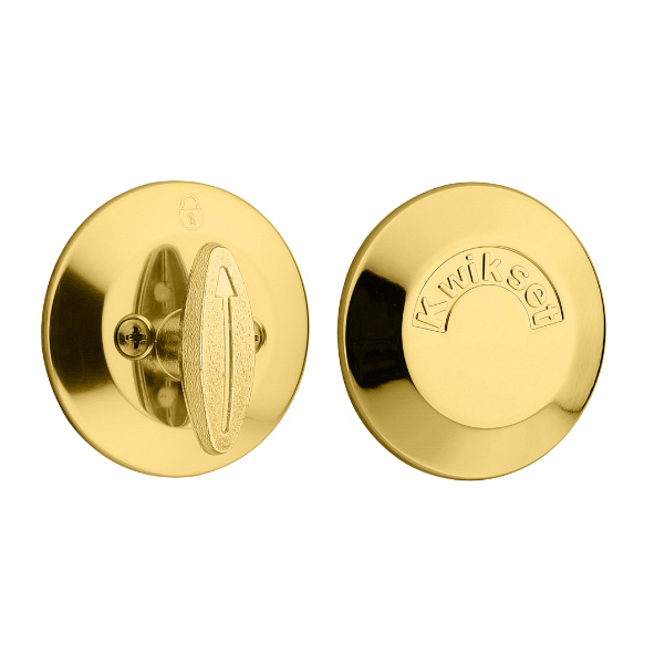 Kwikset 667 one sided deadbolt with exterior plate low - Exterior door handles and deadbolts ...
