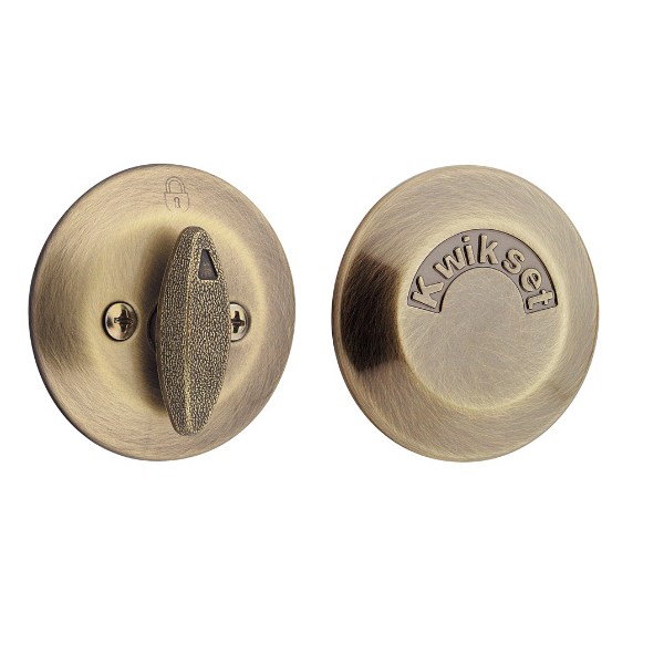 Kwikset 667 one sided deadbolt with exterior plate low - Exterior door knob with deadbolt ...