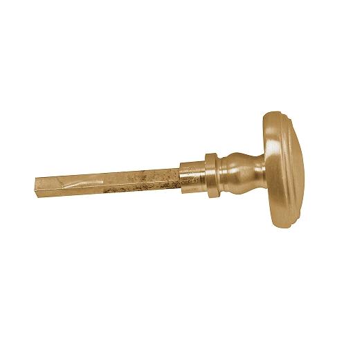 Baldwin Estate 6725 Turn Knob Lacquered Vintage Brass (034)