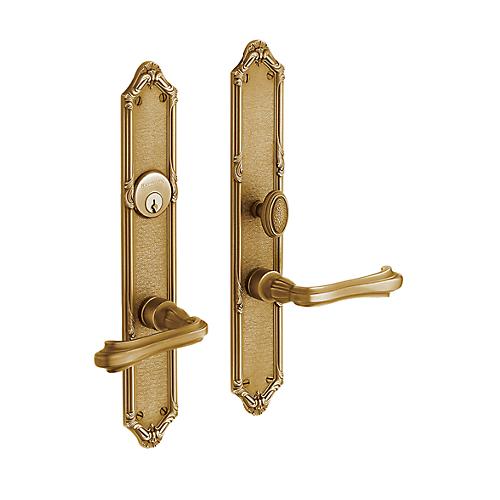 Baldwin Estate 6922 Lakewood Mortise Entrance Set in Vintage Brass