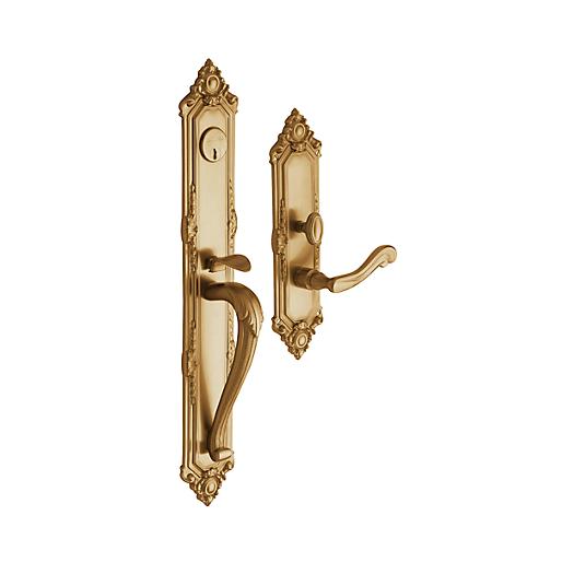 Baldwin Estate 6950 Kensington Full Plate Mortise Handleset vintage brass