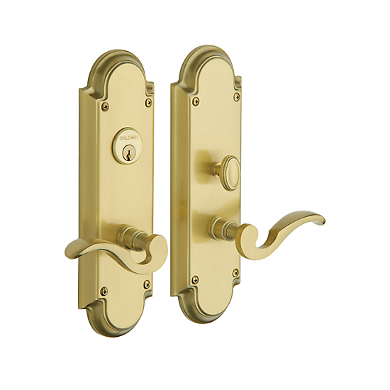 Baldwin Estate 6951 Stanford Mortise Entrance Set in Satin Brass