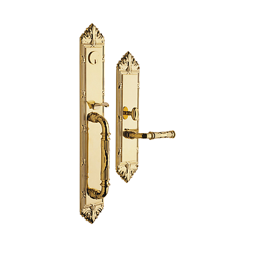Baldwin Estate 6952 Edinburgh Full Plate Mortise Handleset Lifetime Brass