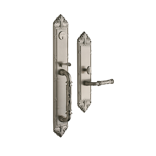 Baldwin Estate 6952 Edinburgh Full Plate Mortise Handleset in Satin Nickel (150)