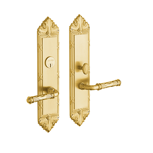 Baldwin Estate 6962 Fenwick Mortise Entrance Set in Satin Brass