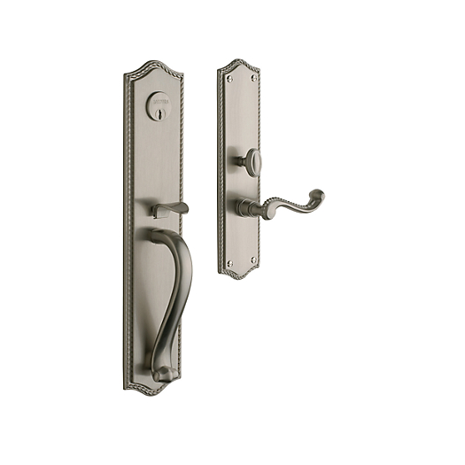 Baldwin Estate 6963 Bristol Full Plate Mortise Handleset in Satin Nickel (150)
