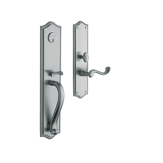 Baldwin Estate 6963 Bristol Full Plate Mortise Handleset in Satin Chrome (264)