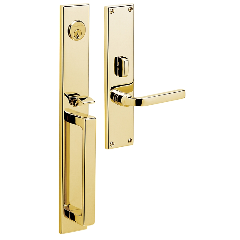 Baldwin Estate 6976 Minneapolis Mortise Handleset in Lifetime Polished brass