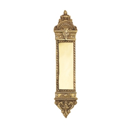 Nostalgic Warehouse Small New Orleans Push Plate Polished Brass (PB)