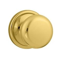 Weiser GCA101H Passage 3 Polished Brass