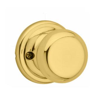 Kwikset Signature Series 788J-3 Juno Single Dummy Knob Polished Brass