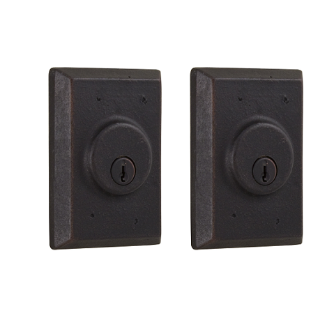 Weslock 7972 Square Double Cylinder Oil Rubbed Bronze (10B)