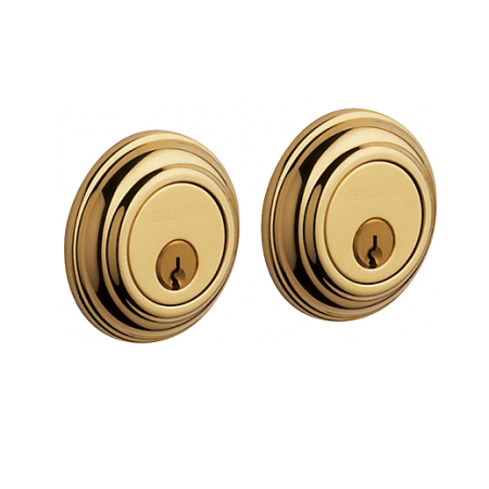 Baldwin 8232 Double Cylinder 003 Lifetime Polished Brass