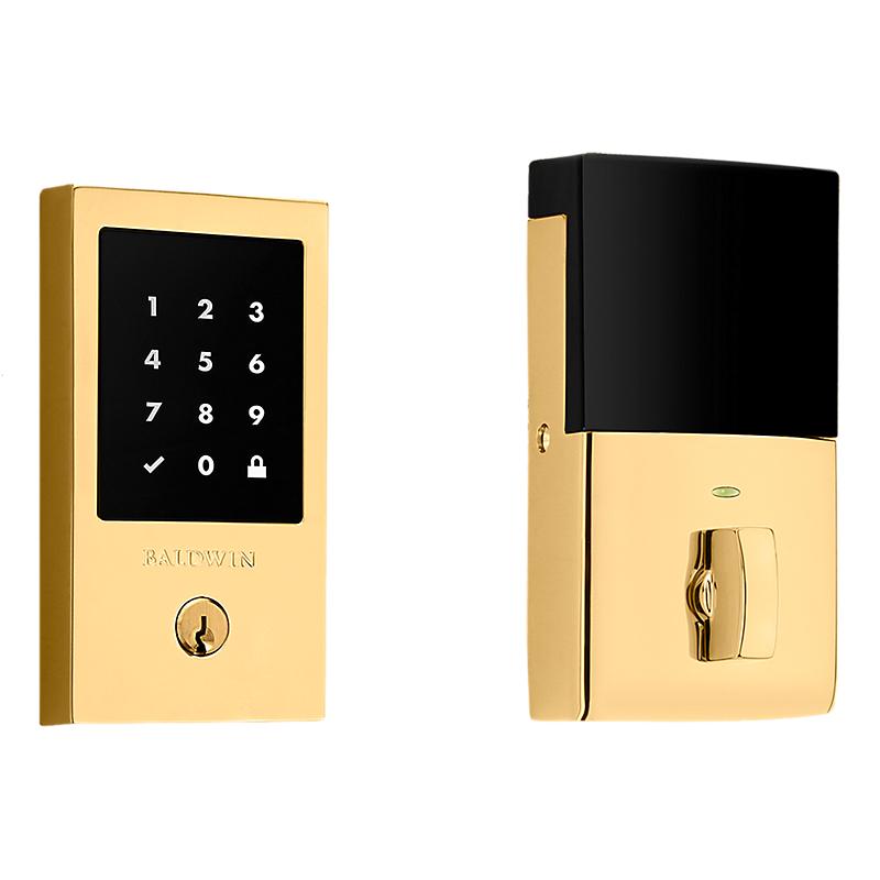 Baldwin Estate 8225.031 Minneapolis Touchscreen Electronic Deadbolt Unlacquered Brass