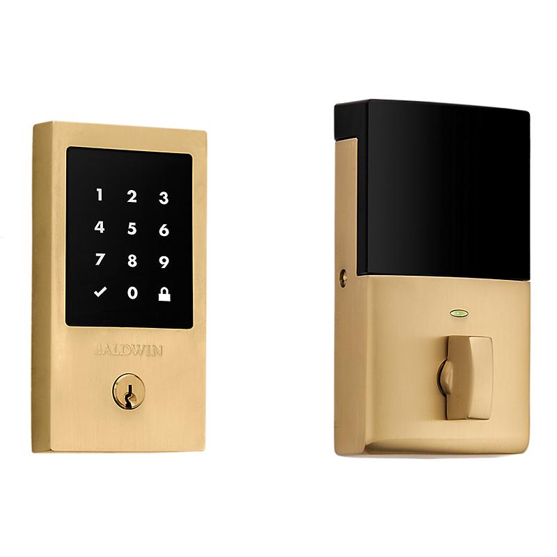 Baldwin Estate 8225.033.ZW Z-Wave Minneapolis Touchscreen Electronic Deadbolt Vintage Brass (033)