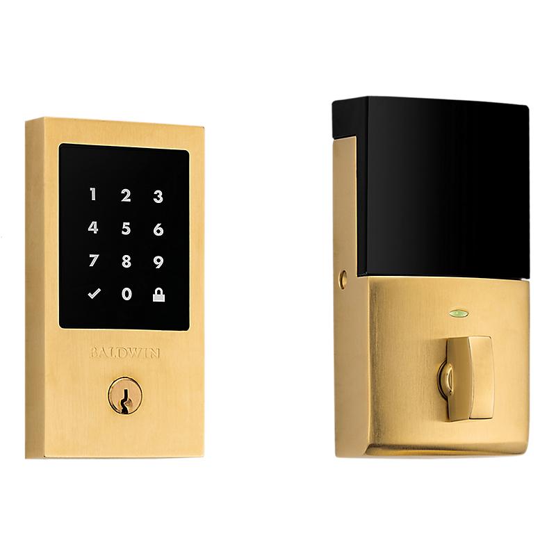 Baldwin Estate 8225.044 Minneapolis Touchscreen Electronic Deadbolt Lifetime Satin Brass