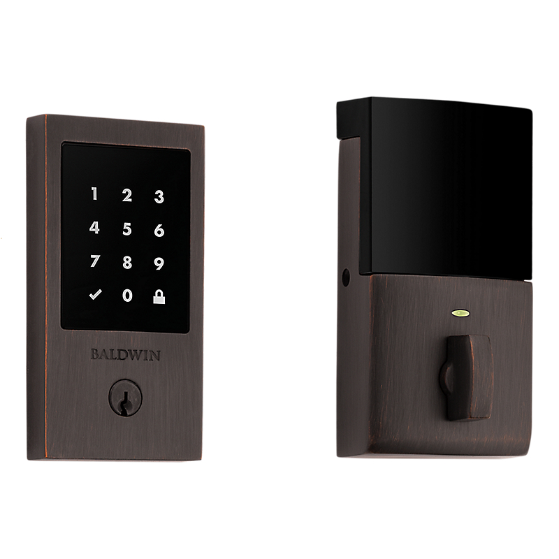 Baldwin Estate 8225.112.ZW Z-Wave Minneapolis Touchscreen Electronic Deadbolt Venetian Bronze (112)