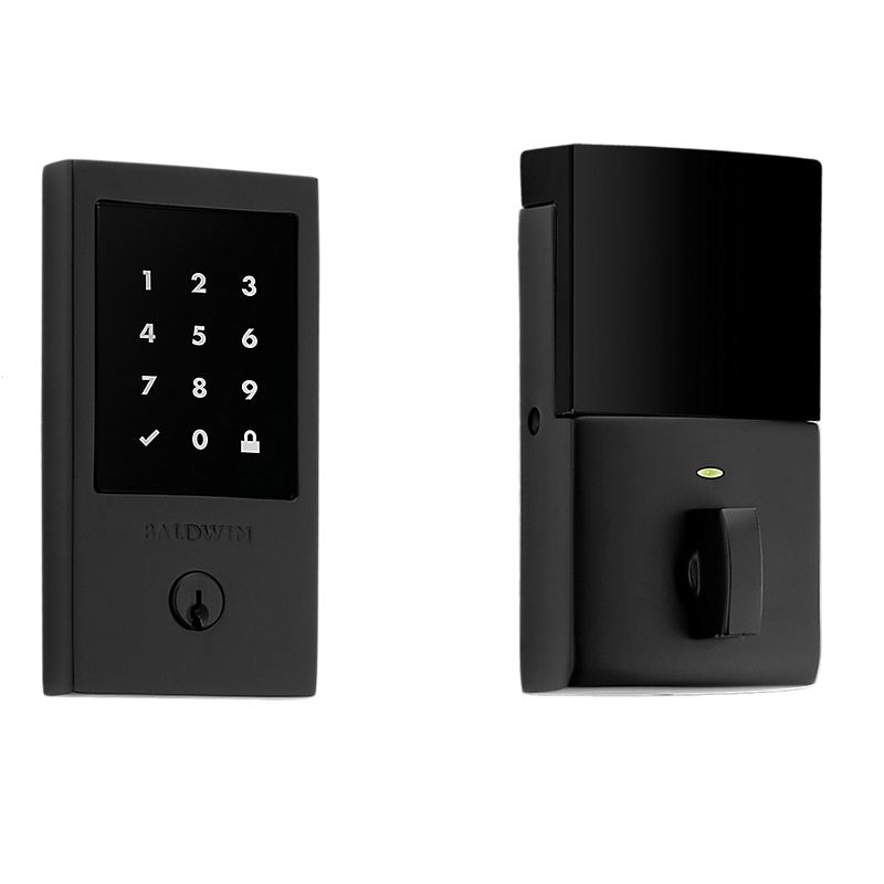 Baldwin Estate 8225.190 Minneapolis Touchscreen Electronic Deadbolt Satin Black