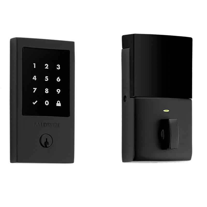 Baldwin Estate 8225.190.ZW Z-Wave Minneapolis Touchscreen Electronic Deadbolt Satin Black (190)