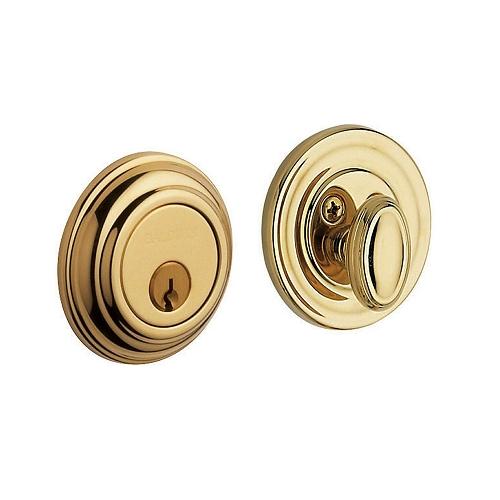Baldwin 8231 Single Cylinder 003 Lifetime Polished Brass
