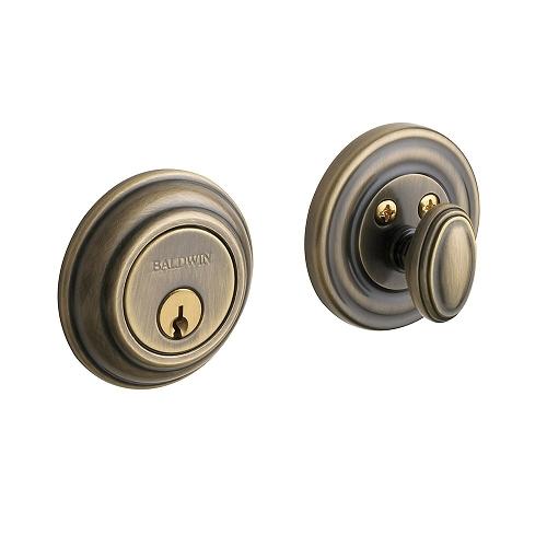 Baldwin 8231 Single Cylinder 050 Satin Brass and Black