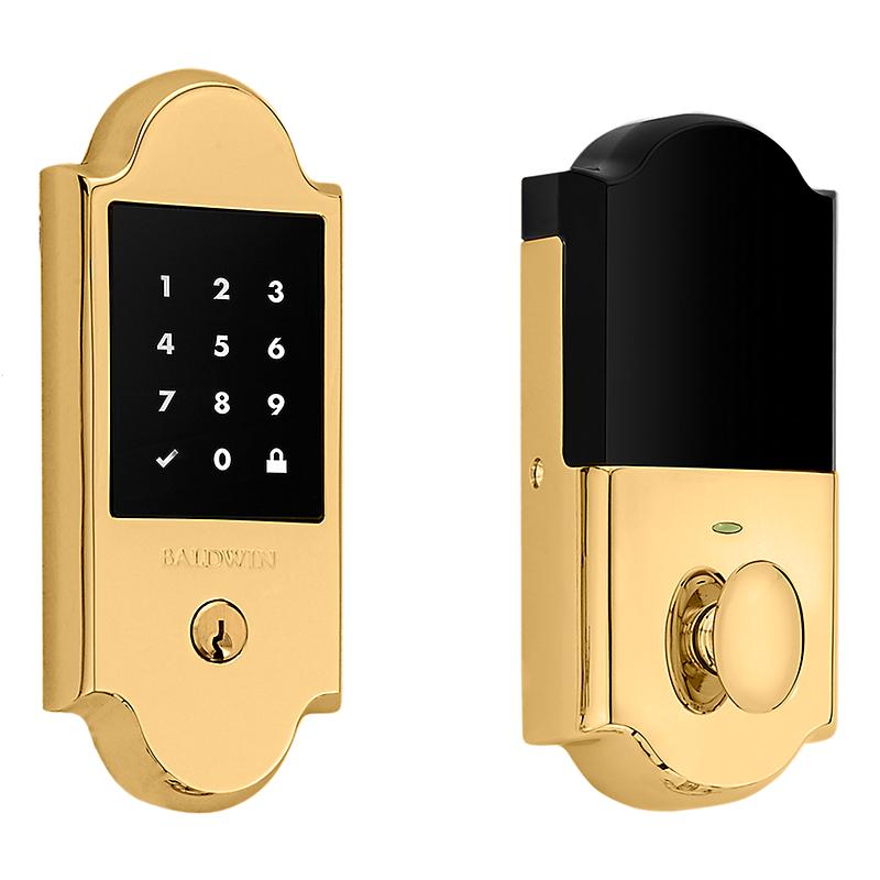 Baldwin Estate 8235003ZW Z-Wave Boulder Touchscreen Deadbolt Lifetime Polished Brass