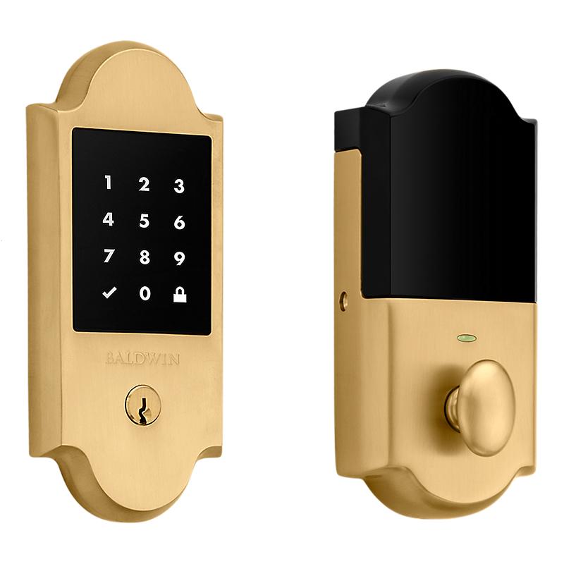 Baldwin Estate 8235.033 Boulder Touchscreen Electronic Deadbolt Vintage Brass