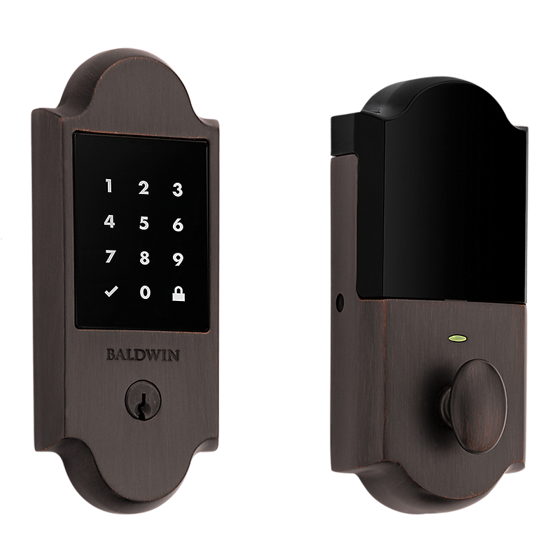 Baldwin Estate 8235112ZW Z-Wave Boulder Touchscreen Deadbolt Venetian Bronze