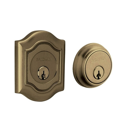 Baldwin 8238 Double Cylinder 050 Satin Brass and Black