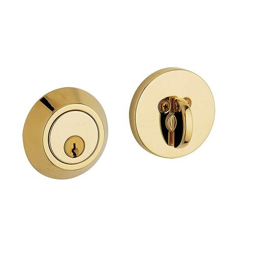 Baldwin 8241 Single Cylinder 003 Lifetime Polished Brass